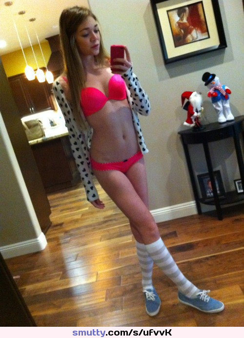 blonde teen hottie gets naked on the balcony
