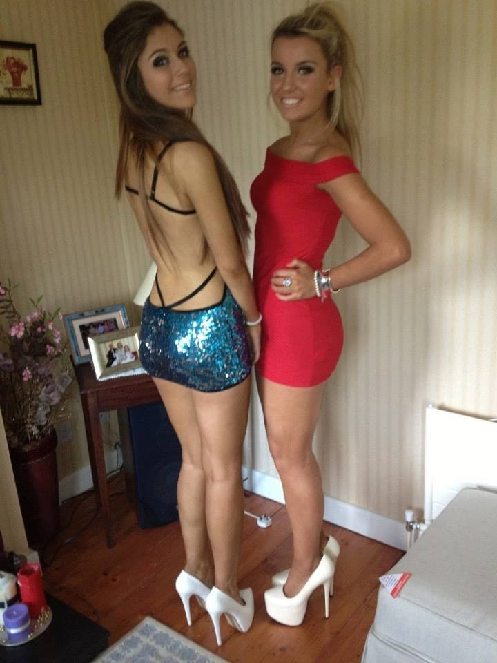 lesbian threesome in stockings whit strap