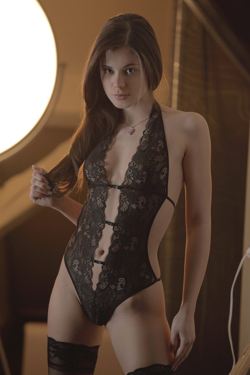 the request button quest failed chapter Brunette Black Stockings Teddy Lingerie Feet